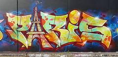 Kid Paris... (colourourcity) Tags: streetartaustralia streetartnow streetart graffitiwriters writers burner letters melbournestreetart melbourne melbournegraffiti burncity awesome colourourcity nofilters graffitti bigburners kid paris kidparis bank bankdma c2f dma zulunation msa bmx bboi