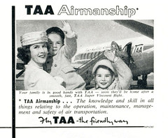 Australian advertisements: (painting in light) Tags: australian advertisements ad advert sell selling aussie 1958 illustration drawing art vintage australia taa airline airlinea aeroplane plane fly flying