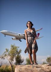 · Flying · 📷: Lluis Vidal (nataliamestrebarajas) Tags: fly avion barcelona bcn summer relax oneperson woman happy natural noflash out