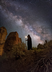 Aztec Priestess (Wayne Pinkston) Tags: aztec pristess light newmexico night sky nightsky nightphotography nightlandscape nightscape waynepinkston waynepinkstonphotocom lightcrafter lightcraftercom stars starrynight starscape milkyway galaxy cosmos theheavens astrophotography landscapeastrophotography widefieldastrophotography longexposure nikon