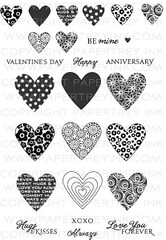 Heart Prints (Issy Stamps) Tags: anniversary love valentinesday happy die