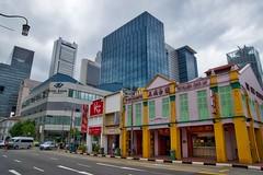 Chinatown in Singapore (UweBKK (α 77 on )) Tags: chinatown singapore shop houses architecture cbd business district road street rain clouds city urban southeast asia sony alpha 77 slt dslr