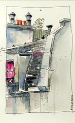 Les toits de Paris (velt.mathieu) Tags: paris roof sketch croquis watercolor aquarelle