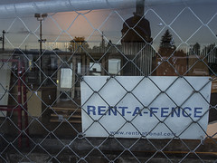 rent a fence (edwham) Tags: portland pdx dawn sandyblvd construction renewal fence chain walkabout earlymorning night nocturne keepportlandweird urban commercial oregon selfie reflection ricoh