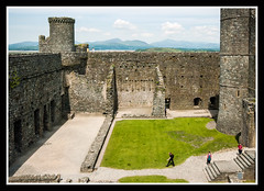 Harlech Castle Inside Keep (veggiesosage) Tags: wales harlech castle aficionados gx20