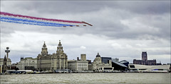Armed Forces Day 2017 Liverpool (Elaine 55.) Tags: liverpool theredarrows armedforcesday 2017 threegraces waterfront rivermersey museumofliverpool
