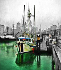 Rainy Day In Vancouver, Canada. (kennethcanada1) Tags: vancouver canada boats kennethcanada