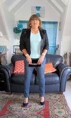 Old purse (Trixy Deans) Tags: crossdresser cd cute crossdressing leather trousers tightjeans jacket jeans xdresser sexy sexytransvestite sexyheels sexylegs tgirl tv transvestite tranny shemale shemales