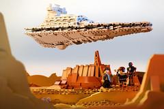 Star Destroyer over Jedha City (Marshal Banana) Tags: lego moc star destroyer stardestroyer jedha rogue one rogueone starwars