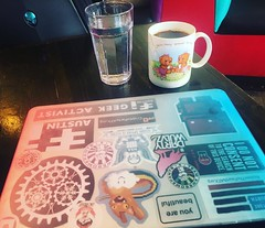 """Brief break from the Otherworld recap to show that all """"work from the road"""" desks aren't the same. 😹 The mug says """"you're beary special to me"""" btw. . . . #digitalnomad #digitalnomadgirls #wanderlust #officeoftheday #remotework #canada #canada150 # (ClevrCat) Tags: ifttt instagram brief break from otherworld recap show that all workfromtheroad desks arent same 😹 the mug says yourebearyspecialtome btw digitalnomad digitalnomadgirls wanderlust officeoftheday remotework canada canada150 bc yyj victoria coffee floydsdiner"""
