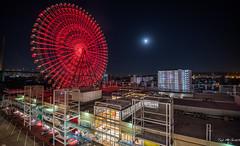 2017 - Japan - Osaka - Wheel - 25 of 25 (Ted's photos - For Me & You) Tags: 2017 cropped japan nikon nikond750 nikonfx osaka tedmcgrath tedsphotos vignetting osakajapan ferriswheel nightscene nightlighting night osakacruiseshipport