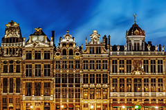 Golden night (Paweł Szczepański) Tags: adornment amazing ancient architectural architecture attraction basrelief belgian belgium benelux blue brussels bruxelles building capital city detail dome europe european facade famous gilded grand guildhalls heritage historic history house inscription landmark mansard mantelpiece market monument night old ornament place relief sculpture site sky square statue tourism tradition unesco view window be