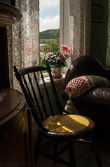 (Therese Østberg) Tags: chair window curtain stol gardin vindu abandoned forlatt nikon nikond300s norway norge ue gammel sigma