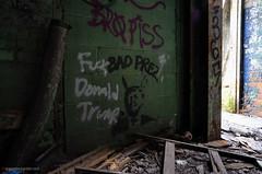 Bro Piss/Bad Prez (gregador) Tags: detroit michigan graffiti decayed abandoned urbex trump urbanexploring urbanexploration politics