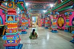 Quiet prayer in the amazing psychedelic Kali Kovil temple ... (Alice Mutasa at PlacesandSeasons) Tags: srilanka asia temple hindu hinduism prayer religion hindutemple trincomalee asian woman female spiritual meditation contemplation