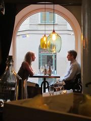 Couple dining at window, Magnus & Magnus restaurant, Gothenburg, Sweden (Paul McClure DC) Tags: gothenburg göteborg sweden sverige july2015 people restaurant architecture historic
