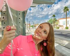 Pink Balloons (Laveen Photography (aka cyclist451)) Tags: friend az arizona douglaslsmith laneschwartz laveenphotography leslie phoenix cyclist451 model modeling muse photograph photographer photography wwwlaveenphotographycom lane roosevelt rooseveltartdistrict rooseveltrowhistoricdistrict schwartz