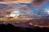 post rain foggy sunset, Costa