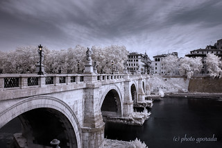 Roma - Ponte Sant'Angelo - Infrared