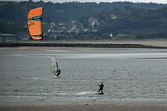 Kite Surfing 4 (Lord Edam) Tags: sea coast coastline beach river sand rocks llandudno conwy clouds waves mountains groyne kite surfing kitesurfing actionsports