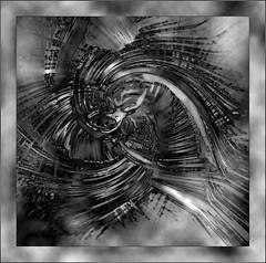 Twirl + Chrome + Clouds (caralan393) Tags: twirl bw chrome square