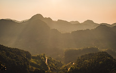 Light touch on the mountain (Flutechill) Tags: mountain nature asia landscape chinaeastasia hill fog scenics outdoors mountainpeak forest travel mist mountainrange sunset sunrisedawn sky morning ruralscene tree doiangkhang chiangmai thailand adventure camping trekking