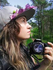 me & minime ❤️ (D.Sinkute) Tags: photographer me selfie nature woods skog norge norway norvegija fotografer daylight daglys sky trees green grass camera canon