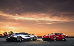 Double Trouble. (Alex Penfold) Tags: ferrari f12 trs chrome red supecars super car cars autos alex penfold 2017 monte blanc spain