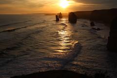 The Great Ocean Road, Victoria (RossCunningham183) Tags: greatoceanroad 12apostles twelveapostles sunset victoria australia rockformation sea ocean surf waves