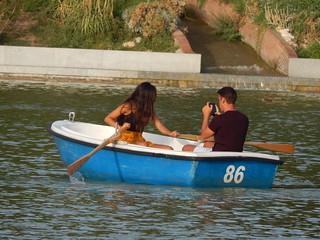 Paseando en el lago