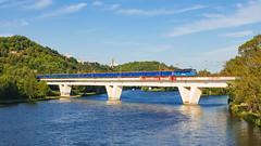 Modrej nákladeček (Honzinus) Tags: čd cargo holešovice praha river prague vltava večer most bulovka vlak české čechy česko