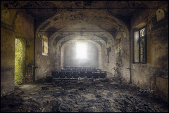 Show Must Go On (Midnight - Digital) Tags: 2017 urbex ancient closed crusty cinema theater canon midnightdigital dilapidated urbanexploration decay decaying forgotten architecture trespassing lost lostplace old verlaten verlassen wrecked indoors oblivion forsaken collapsed collapsing windows show room europe