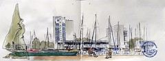 Rencontre Nationales USK de Lorient (m.JaKar) Tags: aquarelle croquis carnetdevoyage dessinurbain france insitu sketchcrawl usk rencontrenationale urbansketchers