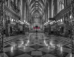 United We Stand Divided We Fall (Wizard CG) Tags: bristol cathedral hdr uk architecture gothic college green olympus epl7 ngc world trekker micro four thirds 43 m43 mzuiko digital ed tourist attraction light windows church building indoor black white samyang 12mm