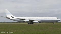 HZ124 A340-214 Saudi Royal Flight (Anhedral) Tags: hz124 airbus a340 a340200 a340214 saudiroyalflight quadjet airliner einn snn