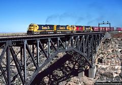 Arizona's Spectacular Canyon Diablo (jamesbelmont) Tags: railroad train locomotive canyondiablo arizona bridge santafe atsf c307