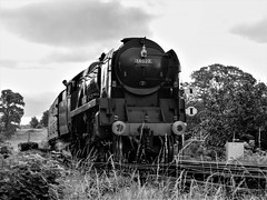 34027 Taw Valley (Jason_Hood) Tags: 34027 tawvalley westcountryclass 462 pacific bulleid southernrailway severnvalleyrailway steamlocomotive monochrome blackandwhite