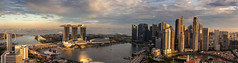 Marina Bay, Financial District and Singapore River (Ray in Manila) Tags: singapore panorama eos650d efs24mm marinabay swissotelstamford view sunset dusk harbour skyscraper river sea pacific island marinabaysands flyer asia financialdistrict boats scenic fullertonhotel gardensbythebay reflection clouds water bridge