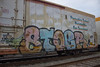 Stoe (NJphotograffer) Tags: graffiti graff new jersey nj trackside track railroad rail art freight train bench benching reefer stoe stoer cdc crew