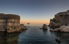 Galleon (the CAMera of ian CAMpbell; simple) Tags: dubrovnik croatia galleon sea rocks sunset water