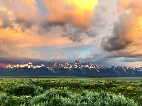 Glorious Sunrise Over the Teton Range by Wesley Fryer, on Flickr
