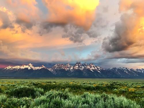Glorious Sunrise Over the Teton Range by Wesley Fryer, on Flickr