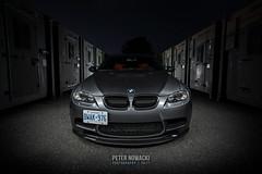 Ready to Strike (Peter Nowacki) Tags: bmw bimmer m3 bmwm3 e90 e92 e46 f80 f82 spacegrey m3coupe m4 wideangle samyang samyang20mm 20mm night longexposure lightpainting car carphotography auto automotive dark glow
