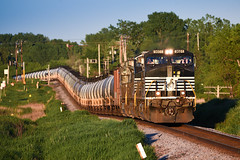 NS 9601 (shawn_christie1970) Tags: medina minnesota unitedstates us train railroad norfolksouthern ns9601 oil cans ge c449w codeline summer