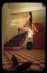 Ghost hotel (° ARTMAN °) Tags: hotel ghost gothique candle heels damier escalier ancien vintage ambiance spectre light painting fantome paranormal