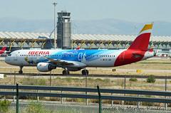 Iberia A321 ec-jzm (merlyn.pauley) Tags: madrid madridbarajasairport airport spain iberia a321 ecjzm airbus disneylandparis