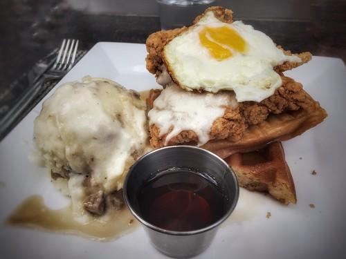 From flickr.com: Chicken & Waffles {MID-147883}