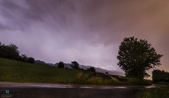 Explosion in the sky (Elisa.95) Tags: night storm sky clouds trees landscape nikon italy trentino capture lightning dark shot