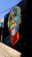 Echo Park Avenue mural (mercycube) Tags: echopark mural goatee echoparkavenue colors stripmall orangeneck losangeles art painting signedart