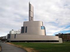Catedral de las auroras boreales (Asun Idoate) Tags: noruega laponia alta catedral titanio torre cieloazul